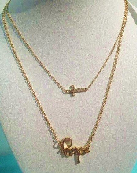Adoration sideways crystal cross necklace 39 hopeful for Premier jewelry cross ring