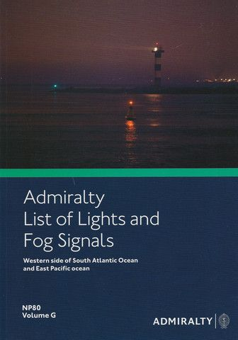 Admiralty List of Lights and Fog Signals Vol. G