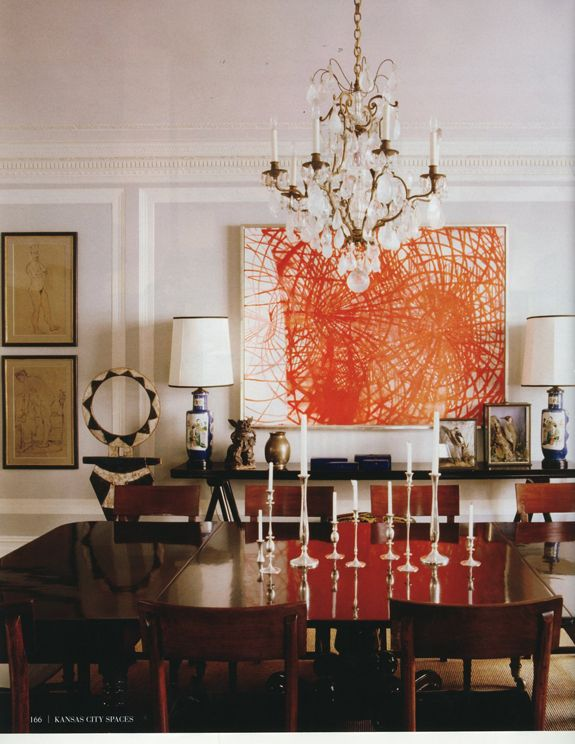 The Home Of Kate And Andy Spade Habitually Chic Find This Pin More On Dining Room Art