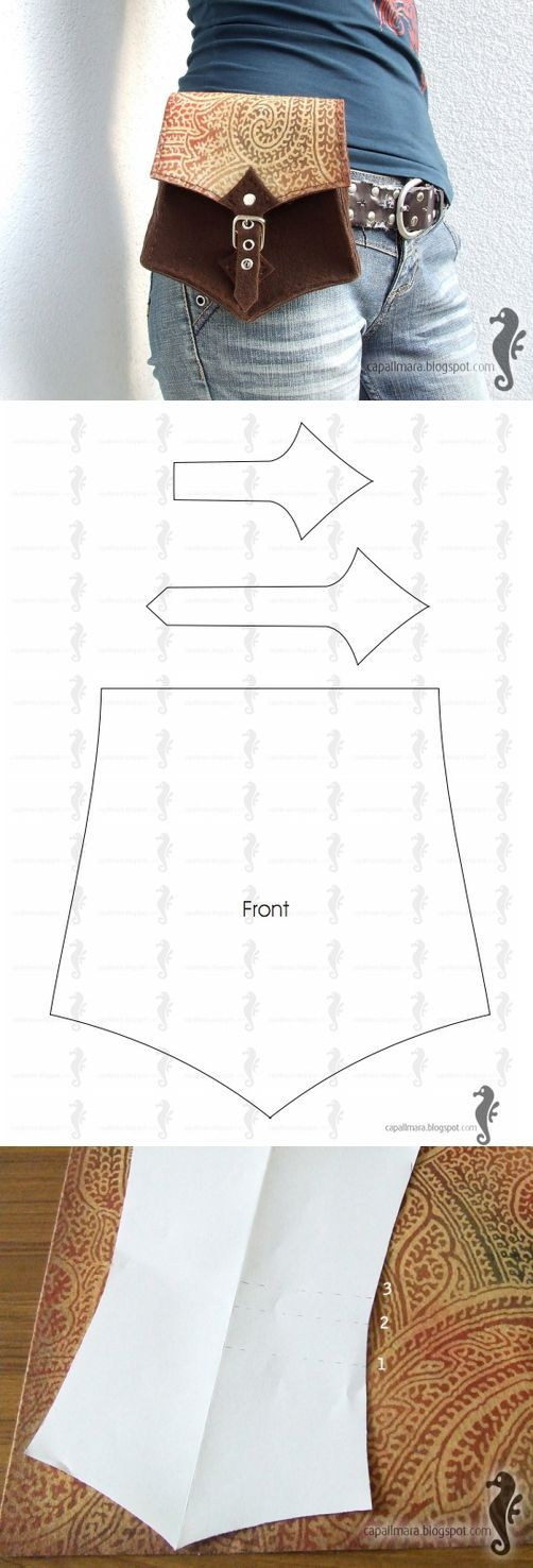 HOW TO SEW A WAIST BAG. PATTERN AND MASTER CLASS