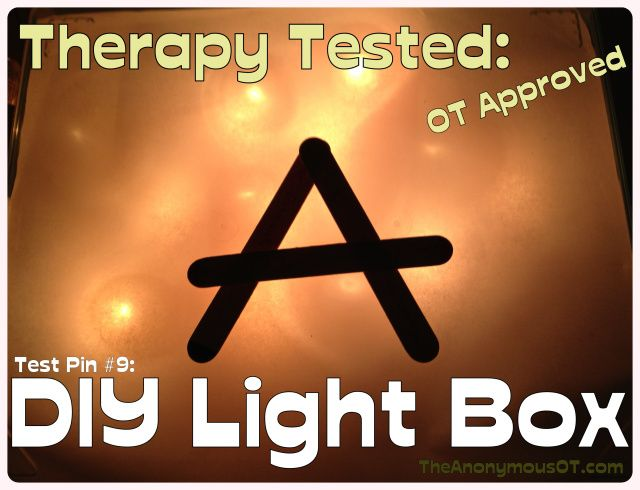 DIY Light Box - Tested in Occupational Therapy