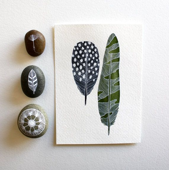 Featured in West Elm - Feather Watercolor Painting - Black Friday Cyber Monday - Archival Art Print - 5x7 Elm Feathers