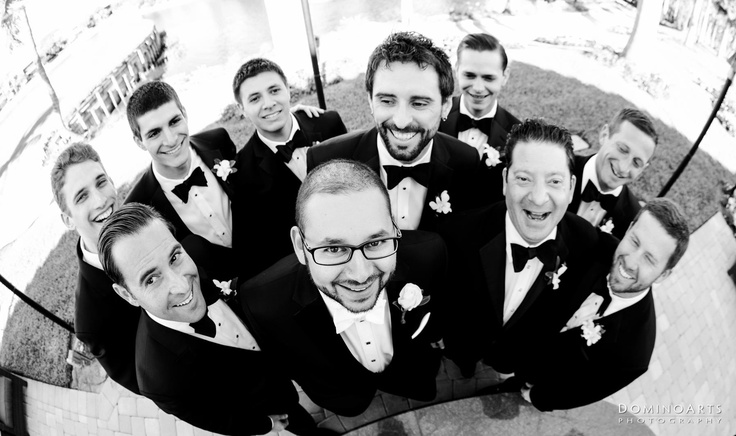 The #groom and the #ushers having fun :) #Wedding Picture by #DominoArts Photography (www.DominoArts.com)