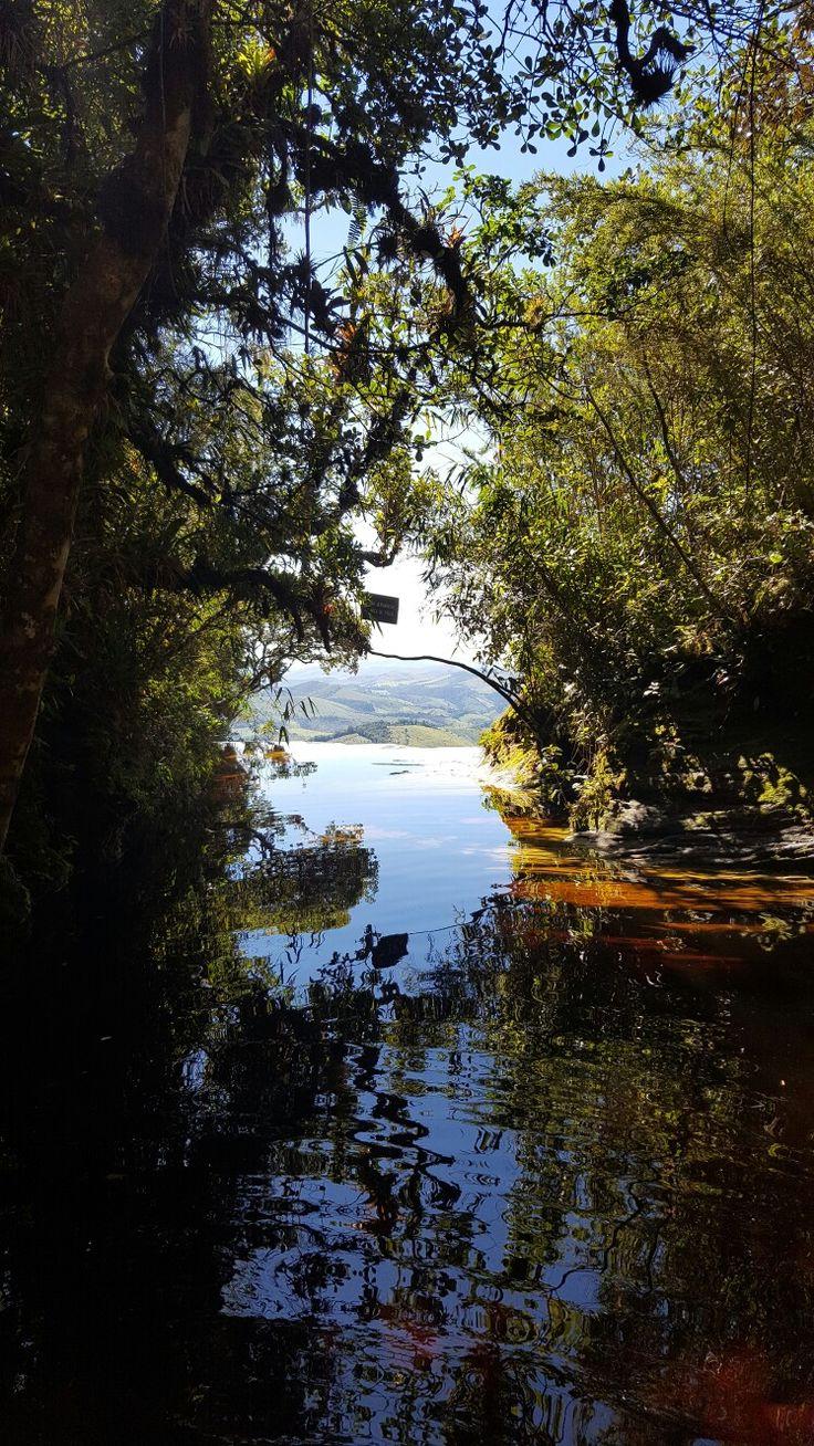 Janela do céu - trilha Janela do Céu no Parque Estadual de Ibitipoca em Conceição do Ibitipoca - MG, Brasil.
