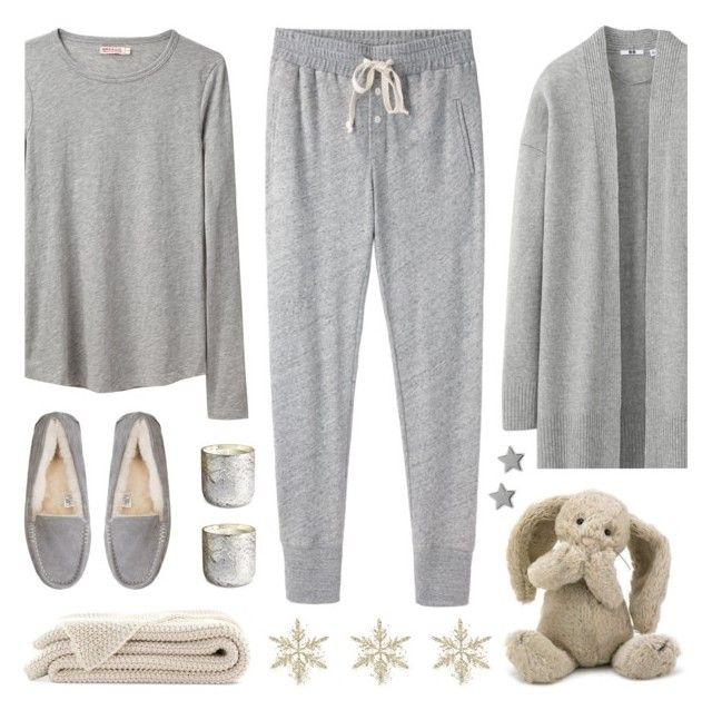 """Snow Day"" by lgb321 ❤ liked on Polyvore featuring Uniqlo, Steven Alan, Organic by John Patrick, UGG Australia, Illume, Jellycat, Gucci, snow, snowday and polyvoreeditorial"