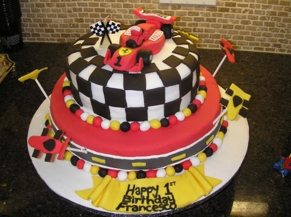 F1 Ferrari 1st Birthday Cake