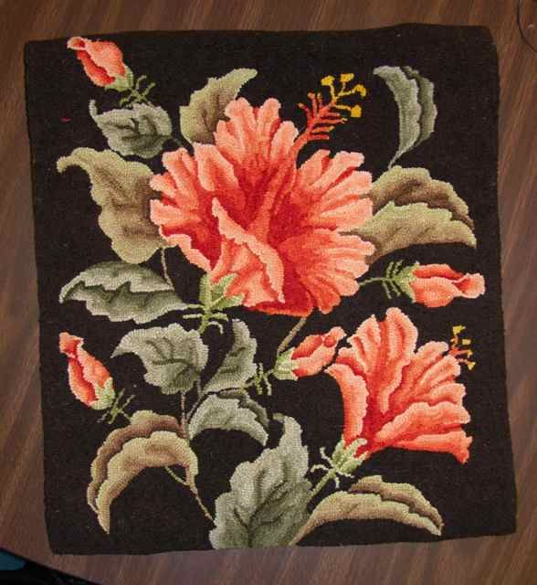 Carol Kassera Rug Hooking Patterns | ... patterns from Carol's catalog. This hibiscus was a popular choice