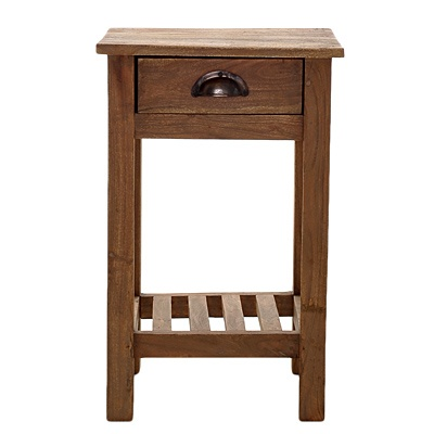 Driftwood Square Side Table