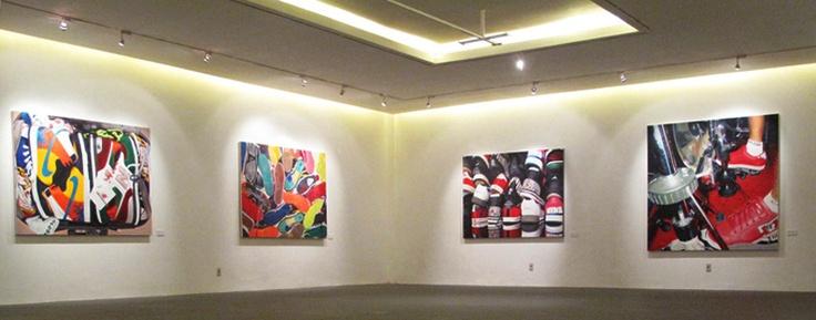 'sneakerhead painting : double fetishism' sigiarts jakarta 2010