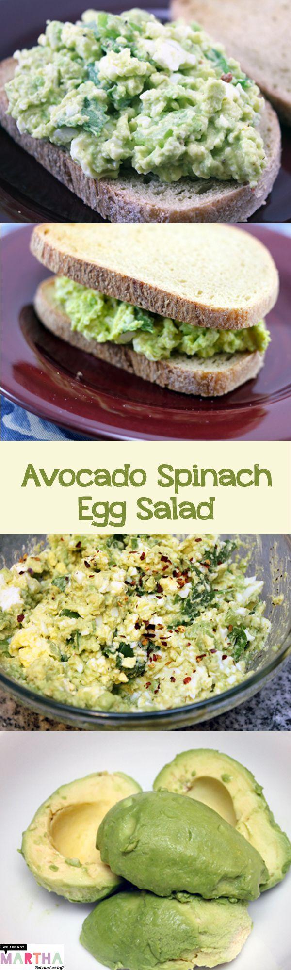 Avocado Spinach Egg Salad -- A healthier (and more delicious!) egg salad | wearenotmartha.com