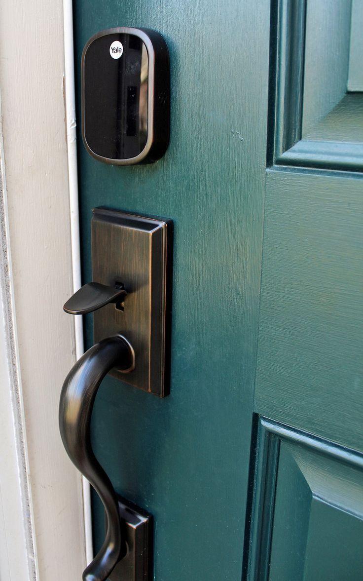 Why We Installed An Electronic Keyless Door Lock Tag Tibby Design Smart Door Locks Keyless Door Lock Traditional Front Doors