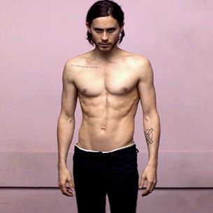 Thirty Seconds to Mars frontman Jared Leto goes shirtless in the premiere of their latest for Up in the Air! The track is the lead single off their fourth studio album Love Lust Faith + Dreams, d...