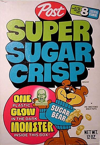 Super Sugar Crisp...back in the day when cereals proudly advertised the fact that they contained sugar!!