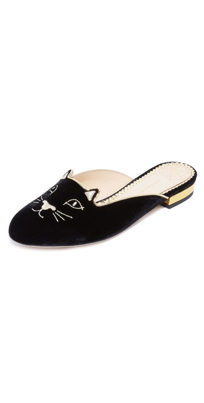 f58f01bca16 Charlotte Olympia Kitty Slippers