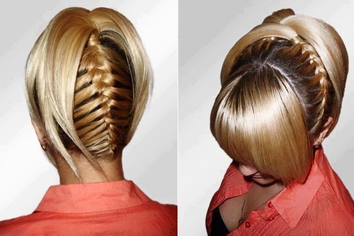 Inverted French Braid | Upside-down french braid