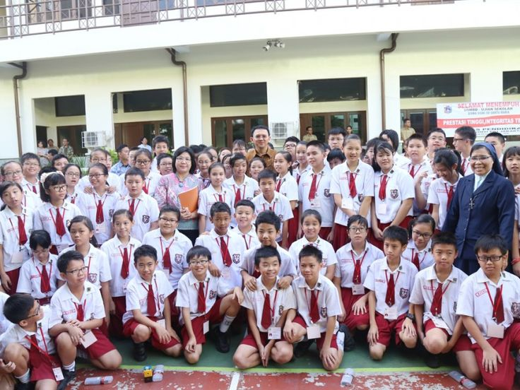 Basuki Tinjau US Tingkat Sekolah Dasar di Jakarta Pusat