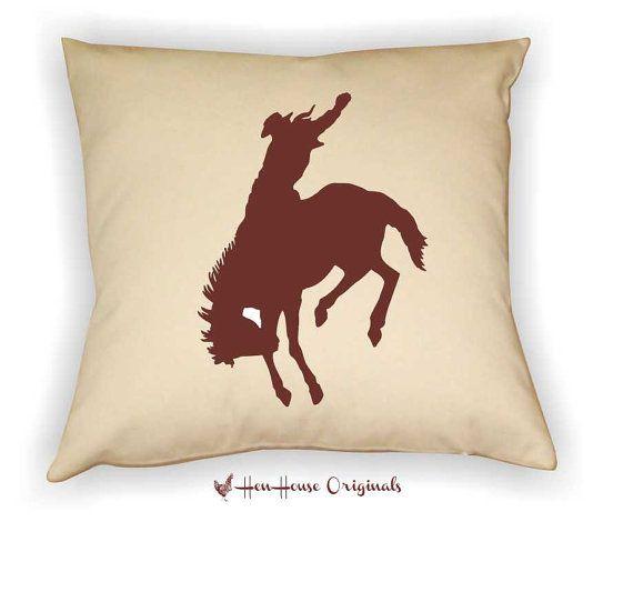 Cowboy Pillow Cover Western Bronco Horse by henhouseoriginals, $24.00
