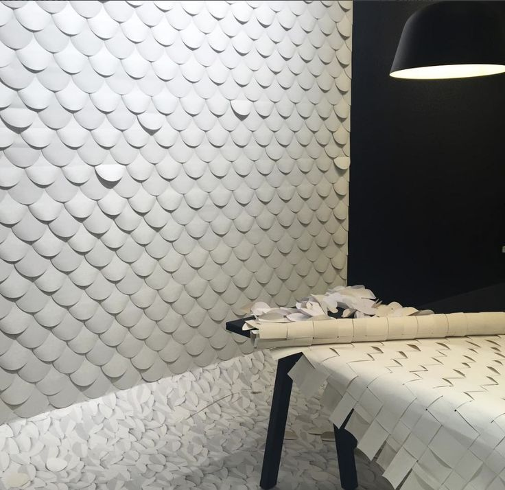 Textured monochrome wallpapers at the wallvision stand