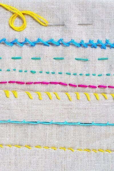 Aprenda pontos de costura à mão, para facilitar a sua rotina de corte e costura. Lembrando que as cores da linha nestes exemplos são diferentes...