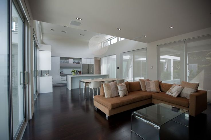 dining and lounge area. open plan kitchen