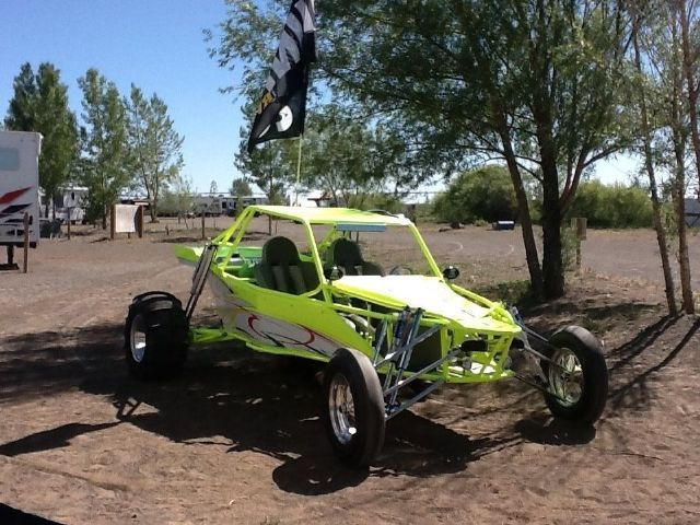 2008 Long Travel Larry short hyabusa Sand Rail , Bright lime green for sale in Brigham City, UT