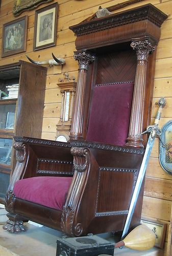 Antique Throne Chair Masonic Antique Restored | EBay