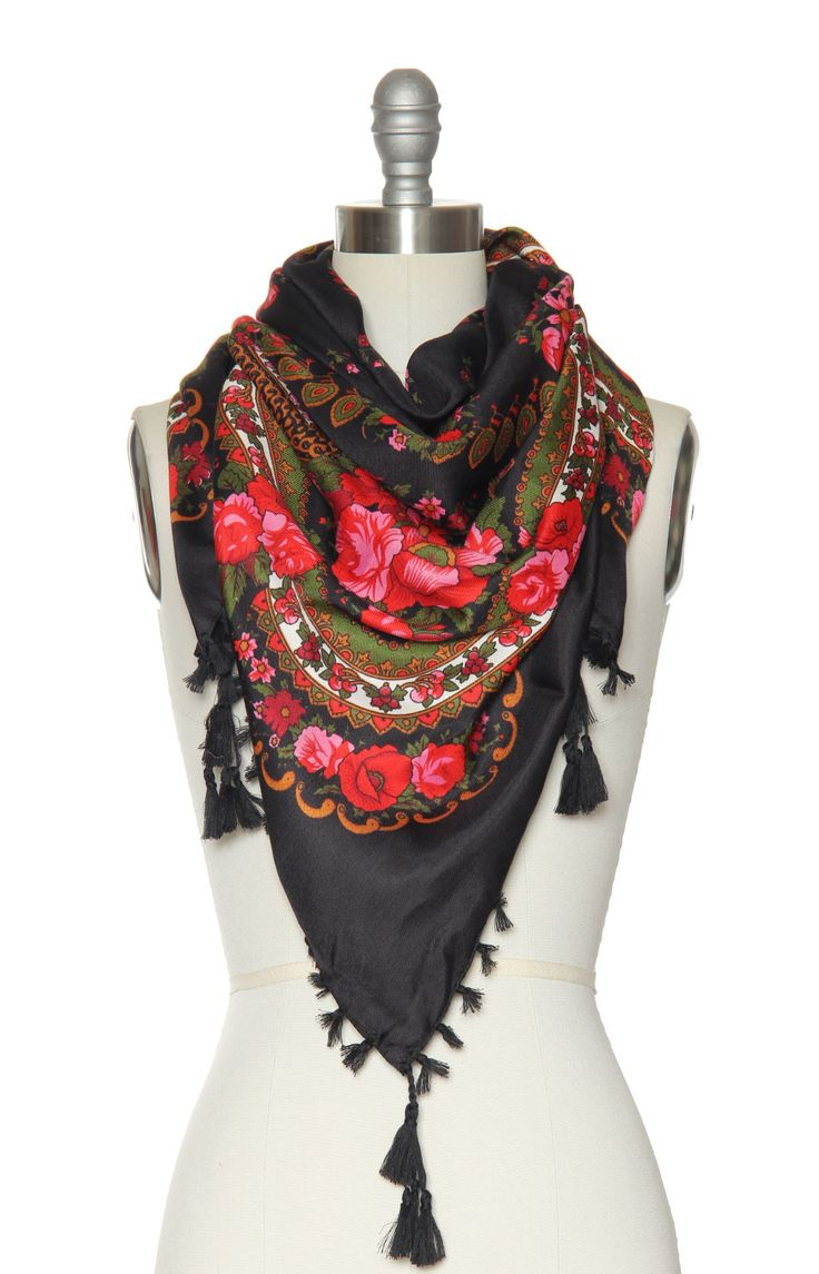 Floral vintage-inspired scarf. Perfect #fall accessory!