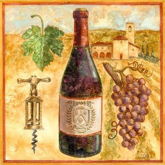 Картинки для декупажа бутылки для вина