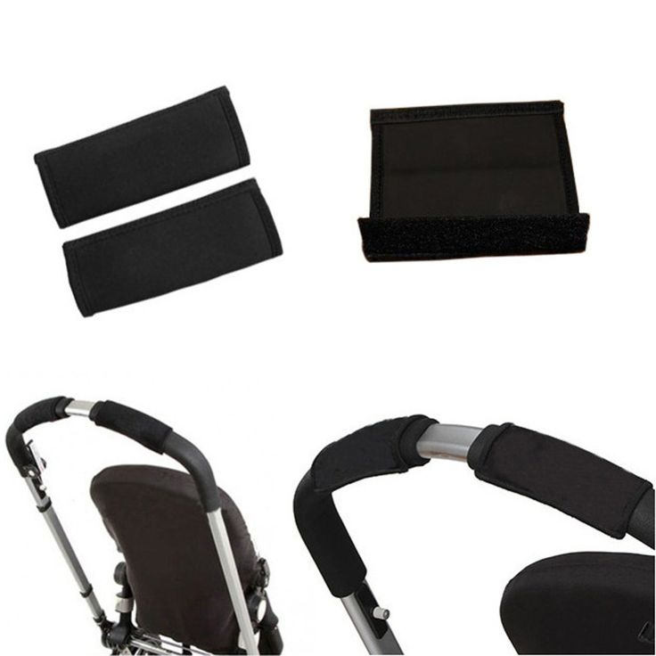 Marvelous BSEL High Quality Pair Baby Black Pram Stroller Carriage Bumper Cover New Baby Black Pram Stroller