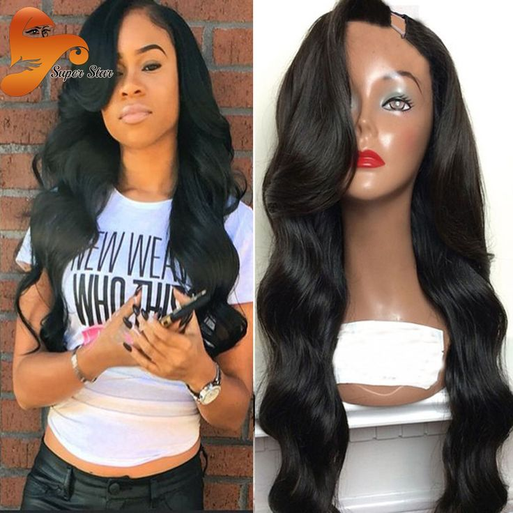 7A unprocessed virgin peruvian u part wig body wave u part human hair wigs with side bangs left side upart wigs for black women