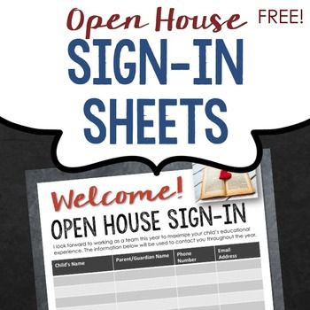 [FREE] Work as a team with your students' parents right from the start. This attractive, FREE open house sign-up sheet will allow you to capture their contact information so that you can keep them informed and connected all year long.