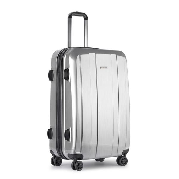 Hard Shell Travel Luggage with TSA Lock Silver – Click Online Sales