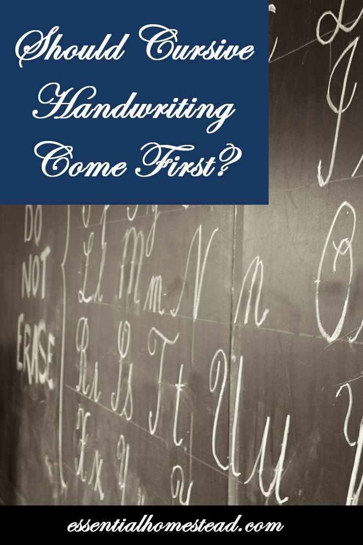 Should cursive handwriting be taught first? Cursive handwriting helps children develop fine motor skills and hand-eye coordination.