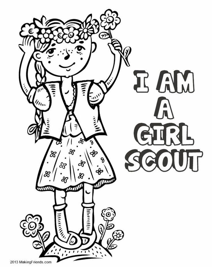 Start your Girl Scout year having the girls color the cover of their own coloring book. Free printables availabe from MakingFriends.com