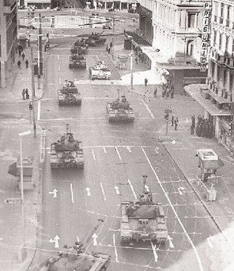 April 21,1967 ~ Army tanks on the streets of Athens (Panepistimiou ave.)