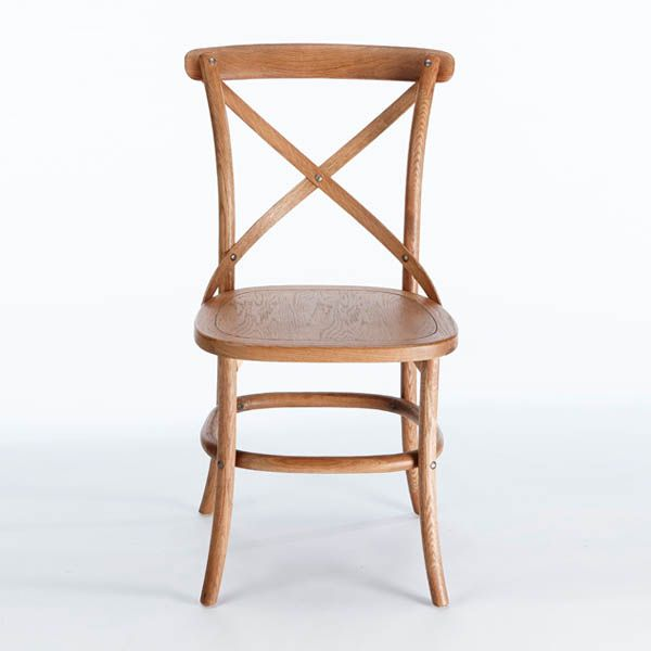Cafe oak chair with a wood seat. Available online or in store.