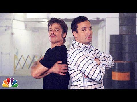 """Breakdance Conversation"" with Jimmy Fallon & Brad Pitt - YouTube"