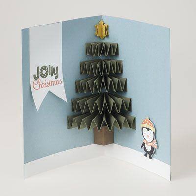 飛び出すクリスマスカードの手作り方法 動画「ポップアップクリスマスツリー」