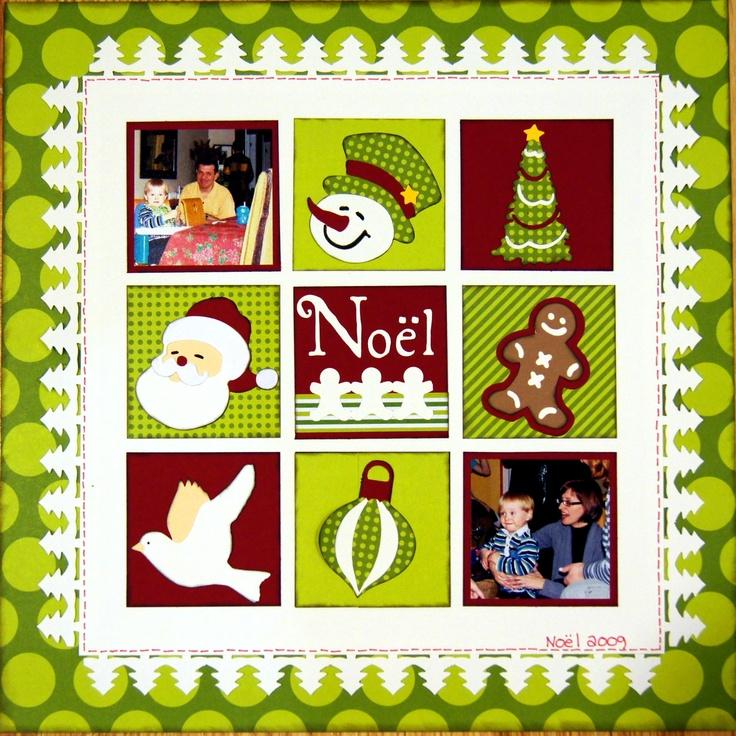 Page de Noël que j'ai réalisé avec le coupe bordure Creative Memories et la cartouche CRICUT.  $55
