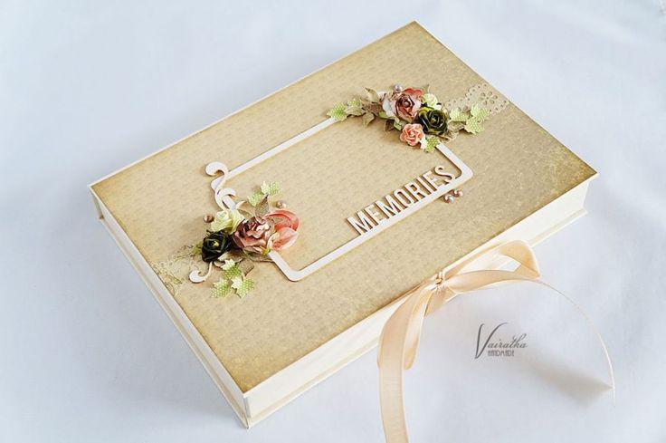 Pudełko na zdjęcia – Pudełka ślubne - kolor: kawowy, brązowy, lilla, wymiary: 17,5*24,5cm głębokość 3cm – Artillo