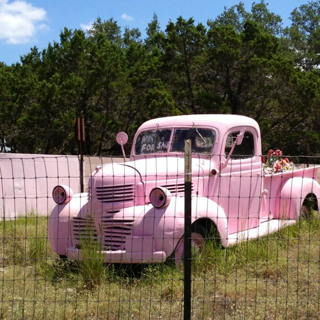 Pink truck! Love this light pink!