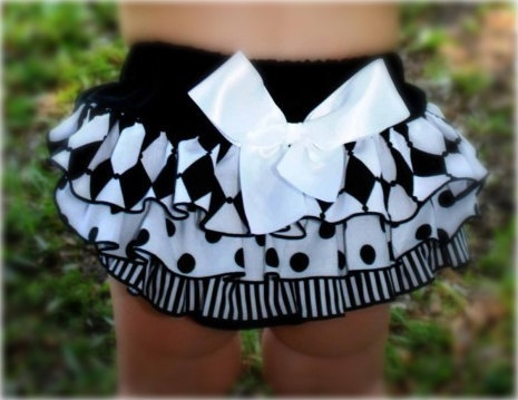 Ruffled back diaper covers