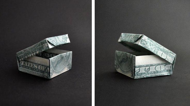Cool Money BOX Origami Dollar Tutorial DIY by NPro…