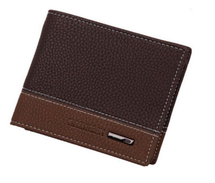 Men Wallet Purse Small Luxury Portfolio Design Famous Brand Short Leather Pocket #Unbranded #Fashion