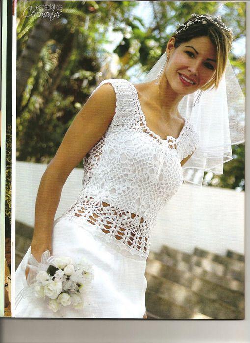 Vestidos de novia a crochet gratis - Imagui