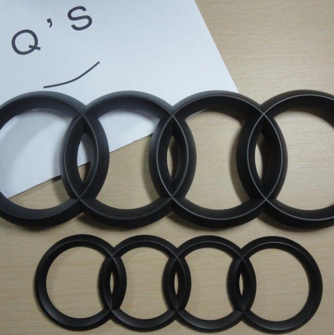 audi q5 q7 rings emblem front and rear badge matt black other color please contact qilvan qq. Black Bedroom Furniture Sets. Home Design Ideas