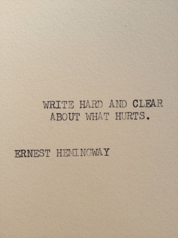 THE HEMINGWAY 1 Typewriter quote on 5x7 cardstock by WritersWire, $6.00