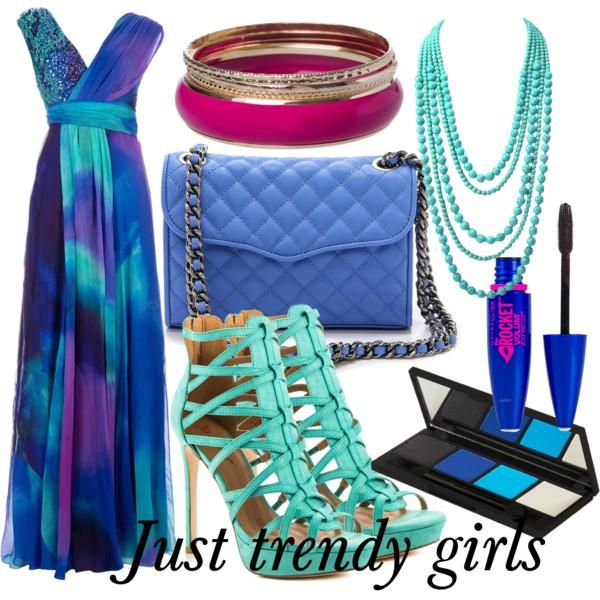 blue and green dress , Maxi summer dresses for  girls http://www.justtrendygirls.com/maxi-summer-dresses-for-girls/