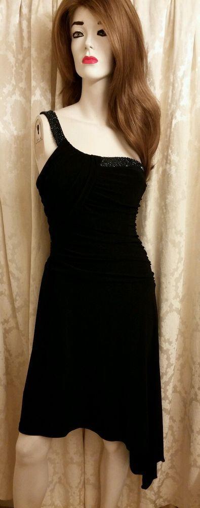 Laundry dress %20 0ff by Shelli Segal Cost-$27.99 Size 6 #LaundrybyShelliSegal #OneShoulder #Festive