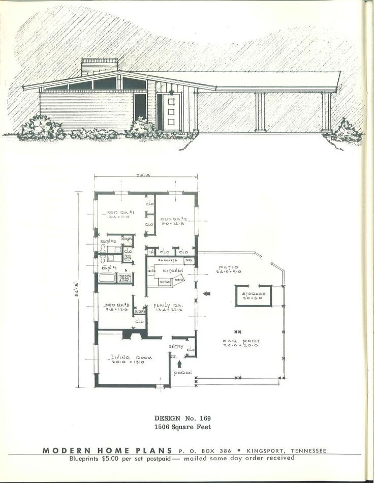 443 best images about vintage house plans 1950s on for 1950s floor plans